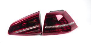 VW Golf MK7 darkred LED taillights