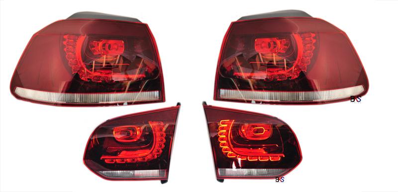 VW Golf MK6 LED Rückleuchten darkred_2